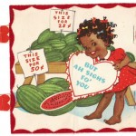 VINTAGE-BLACK-AMERICANA-WATERMELON-VALENTINE-CARD
